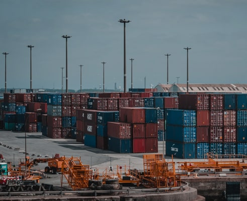 Containers on port